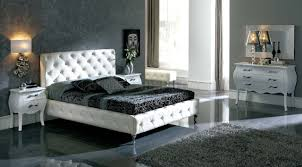 tufted bedroom furniture. Nelly White Tufted Leather Headboard Modern Bedroom Furniture