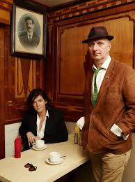 NPG P1775; Fiona Banner; Bob & Roberta Smith (Patrick Brill) - Portrait -  National Portrait Gallery