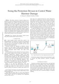 Transient Protection Design Pdf Sizing The Protection Devices To Control Water Hammer