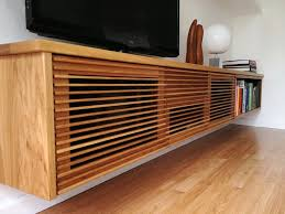 Furniture Accessories:Modern Wall Mounted Wood Media Console Table Modern Media  Console Designs for your
