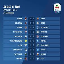 Serie A 2018-2019, 3a giornata: risultati e classifica - Spaziocalcio.it