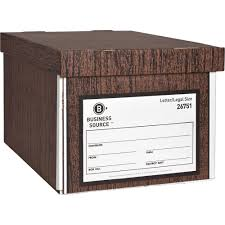 business source economy medium duty storage boxes external dimensions 10 width x 12 depth x 15 height media size supported legal letter lift off
