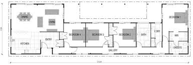 Creative Long House Plans With Modern Arrangement   Houseinner    Wonderful Long House Plans   Four Bedroom Ideas and Kitchen facing Dining Room x Creative Long