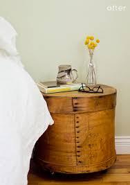 Cheese box nightstands.