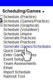 Softball Game Schedule Maker Scheduling