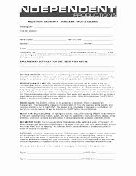 Wedding Videography Contract Template New Contract Release Form