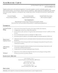 Account Receivable Resume Sample Accounts Receivable Account Extraordinary Accounts Receivable Resume