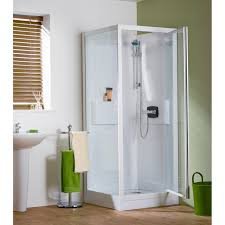 shower cubicles self contained. Kinedo Kineprime Self-Contained Corner Pivot Shower Cubicle | All-In-One Sealed Enclosures Cubicles Self Contained PlumbNation