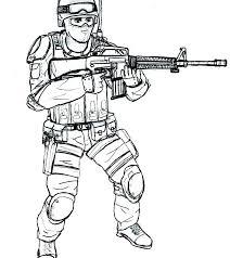 Printable Guns Coloring Pages Free Gun Colouring Nerf Porongurup