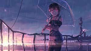3840x2160 Red Eye Anime Girl 4K ...