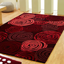 unique rose rugs in red