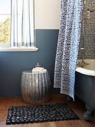 view in gallery black pebble bath mat