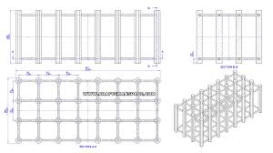 wooden modular wine rack plan assembly 2d drawing