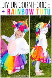 diy unicorn hoo costume rainbow tutu adorable unicorn costume made out of a hoo