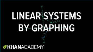 solving linear systems by graphing systems of equations 8th grade khan academy