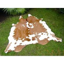 brown and white cowhide rug faux cu