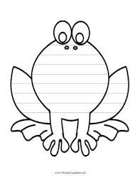 Kids Who Like Amphibians Will Enjoy Writing On This Printable Frog