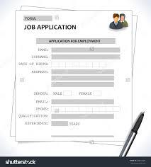 mini st cv resume template job application stock vector mini st cv resume template job application form vector eps 10