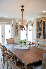 farmhouse dining room furniture impressive. A Large Farm Table, Mix-and-match Chairs And An Impressive Chandelier Combine The Rustic Elegant To Define New Dining Space. Farmhouse Room Furniture H