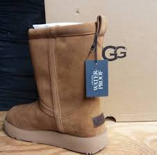 ugg australia womens classic short waterproof suede boot chestnut 1017508 5eb60 c0e9a
