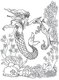 Realistic Mermaid Coloring Pages Coloring Pages Mermaids