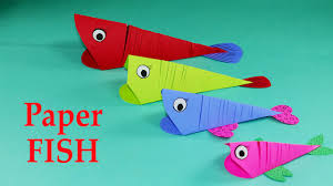 Kids Crafts Paper Crafts For Kids Easy Paper Fish Crafts Diy Tutorial Youtube