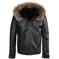 lambskin leather and sheepskin lined jacket dark green thiago