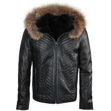lambskin leather and sheepskin lined jacket dark green thiago