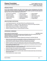 Aircraft Mechanic Resume Sample Cmt Sonabel Org