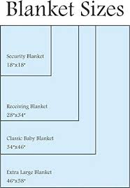 Blanket Measurement Chart Baby Blanket Dimensions Blackbin Co