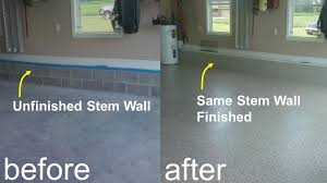 garage floor paint before and after.  After This Picture Shows A Garage Stem Wall Before And After Coating If You Have  In Your Garage Coating It Really Makes The Look Great Throughout Garage Floor Paint Before And After E