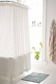 white shower curtain bathroom. Plum And Bow Pom Dot White Shower Curtain Bathroom K