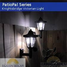 solar patio lanterns knightsbridge victorian solar wall mounted