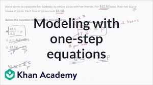 how to write one step equations for word problems 6th grade khan academy