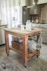 diy kitchen island. DIY Mobile Kitchen Island! Love The Rustic Look! FREE Plans \u0026 Tutorial At Shanty Diy Island S