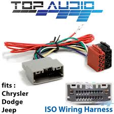 details about jeep iso wiring harness stereo radio plug lead loom connector adaptor