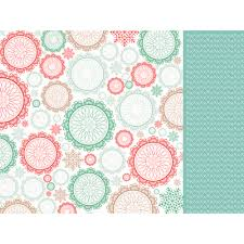 Patterned Paper Adorable StickyTiger Gleeful 48 X 48 Scrapbook Paper By Kaiser Craft