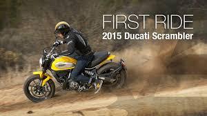 2015 ducati scrambler first ride motousa youtube
