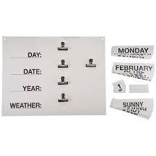 Day Date Weather Chart Reality Orientation Chart