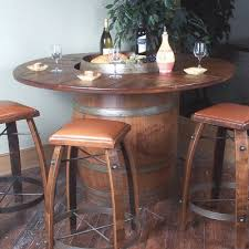 make wine barrel furniture. vintage oak full wine barrel bistro table make furniture