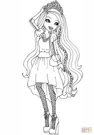 Small Picture Ever After High Holly OHair coloring page Free Printable