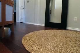 T Round Jute Rug 8 For Home Decoration Bleached
