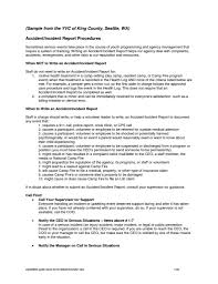 Examples Of Incident Reports At Work And Sample Letter Of Incident