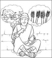 Kleurplaat Jozef En De Dromen Van Farao Bijbel Bijbel