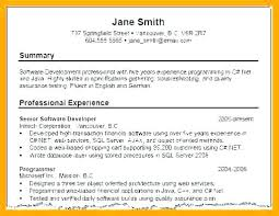 Profile For Resume