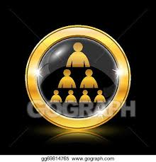 Gold Org Chart Vector Art Organizational Chart With People Icon Clipart
