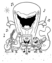 Sponge Bob Kinder Kleurplaten Spongebob Walvis