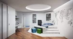 Modern Bedroom Wallpaper Modern White Bedroom With Blue Accent Wallpaper By Hd Wallpapers Daily