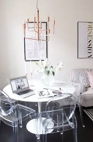 clear table and chairs
