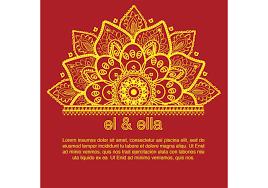 Sadi Card Design Indian Wedding Card Template Download Free Vectors